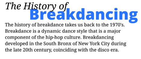 History of Breakdancing Long
